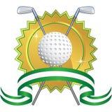Fundo temático do golfe - selo ilustração stock