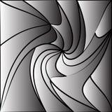 Fundo tessellating monocromático Teste padrão distorcido sumário ilustração do vetor