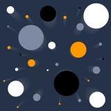 Fundo (teste padrão sem emenda) com círculos (planetes) Fotografia de Stock