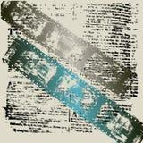 Fundo Textual de Grunge da película Imagem de Stock