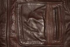 Fundo, a textura da roupa de couro fotografia de stock royalty free