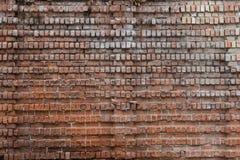 Fundo, textura e teste padrão velhos do tijolo Parede de tijolo vermelho grande fotografia de stock royalty free