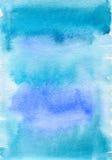 Fundo textured azul da aquarela Fotografia de Stock
