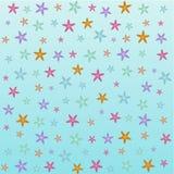 Fundo textured bonito com estrela do mar, para o cartaz do cartão ilustração royalty free