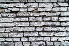 Fundo Textured branco velho da parede de tijolo Textura Whitewashed quadrado de Brickwall do vintage O branco do Grunge lavou a s foto de stock royalty free