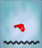 Fundo Textured - carpa japonesa Imagens de Stock Royalty Free