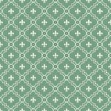 Fundo Textured da tela da flor de lis teste padrão branco e verde Imagens de Stock Royalty Free