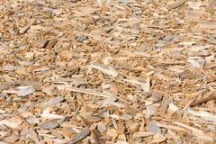 Fundo Textured das microplaquetas de madeira Fotos de Stock Royalty Free