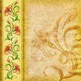 Fundo textured floral (lírio) Imagens de Stock Royalty Free