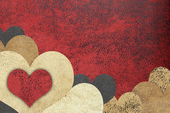 Fundo textured grunge do amor Imagem de Stock