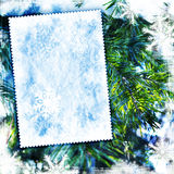 Fundo textured inverno do vintage Fotos de Stock