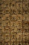 Fundo textured porta esquadrado de madeira imagem de stock