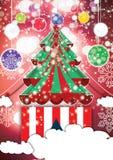 Fundo tipográfico do Natal alegre santa ilustração stock