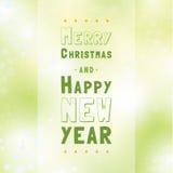 Fundo tipográfico do Natal do vetor. Imagens de Stock