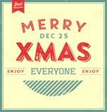 Fundo tipográfico do Natal do vintage Fotos de Stock