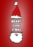Fundo tipográfico do Natal Feliz Natal santa ilustração do vetor