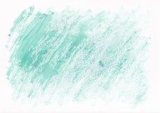Fundo tirado da aquarela da cerceta mão horizontal seca leve Cursos duros diagonais bonitos da escova de pintura ilustração do vetor