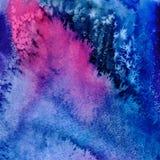 Fundo tirado da aquarela do vetor mão abstrata Imagens de Stock