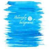 Fundo tirado da aquarela do vetor mão abstrata azul Imagens de Stock