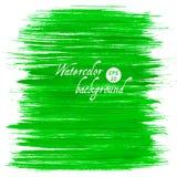 Fundo tirado da aquarela do vetor mão abstrata verde Fotografia de Stock