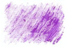 Fundo tirado da aquarela mão horizontal seca roxa Cursos duros diagonais bonitos da escova de pintura Foto de Stock