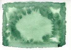 Fundo tirado do inclinação da aquarela mão horizontal verde imagem de stock royalty free