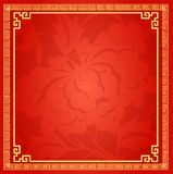 Fundo tradicional chinês, peônia, flor, fortuna, afortunada, o quadro do Grande Muralha ilustração do vetor