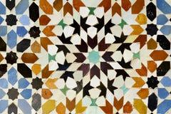 Fundo tradicional do mosaico de Morrocan Fotografia de Stock