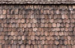 Fundo tradicional rústico do telhado da telha Fotos de Stock Royalty Free