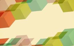 Fundo transparente brilhante do inclinação Retro colorido Imagens de Stock Royalty Free