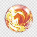 Fundo transparente da esfera da ampola Foto de Stock Royalty Free