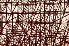 Fundo transversal de aço alaranjado estrutural do sumário da construção Imagem de Stock Royalty Free