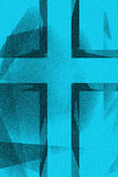 Fundo transversal religioso azul do vintage Imagens de Stock Royalty Free