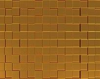 Fundo tridimensional dourado abstrato Imagem de Stock Royalty Free