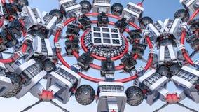 Fundo tridimensional futurista do sumário das formas 3d diferentes 3d rendem imagem de stock royalty free