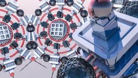 Fundo tridimensional futurista do sumário das formas 3d diferentes 3d rendem fotografia de stock royalty free