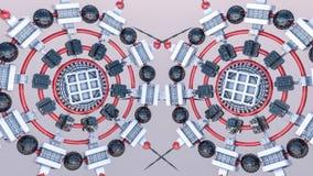 Fundo tridimensional futurista do sumário das formas 3d diferentes 3d rendem foto de stock royalty free