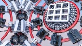 Fundo tridimensional futurista do sumário das formas 3d diferentes 3d rendem fotografia de stock