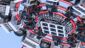 Fundo tridimensional futurista do sumário das formas 3d diferentes 3d rendem imagens de stock