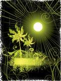 Fundo tropical abstrato Imagens de Stock Royalty Free
