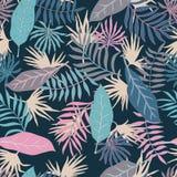 Fundo tropical com folhas de palmeira Teste padrão floral sem emenda S Imagem de Stock Royalty Free