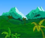 Fundo tropical da paisagem Fotografia de Stock