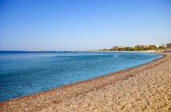 Fundo tropical da praia da lagoa imagem de stock royalty free