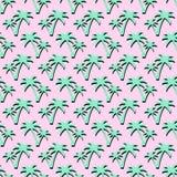 Fundo tropical das palmas do verão Teste padrão sem emenda com palmeiras do coco Fotos de Stock Royalty Free