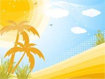 Fundo tropical do verão Fotografia de Stock