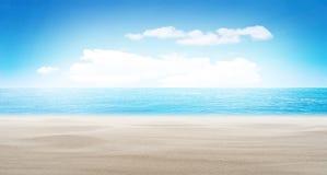 Fundo tropical do verão da praia fotografia de stock