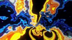 Fundo turbulento do sumário do laço do campo VJ da energia colorida do plasma video estoque