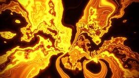 Fundo turbulento do sumário do laço do campo VJ da energia do plasma do ouro ilustração royalty free