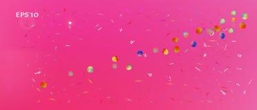 Fundo ultra largo colorido do espaço do sumário ilustração royalty free