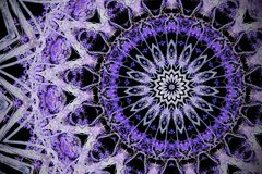 Fundo ultravioleta abstrato, mandala fl do efeito do caleidoscópio Fotos de Stock Royalty Free